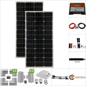 Twin 100W Curtech Solar Panel ABS Package with CT12-20A